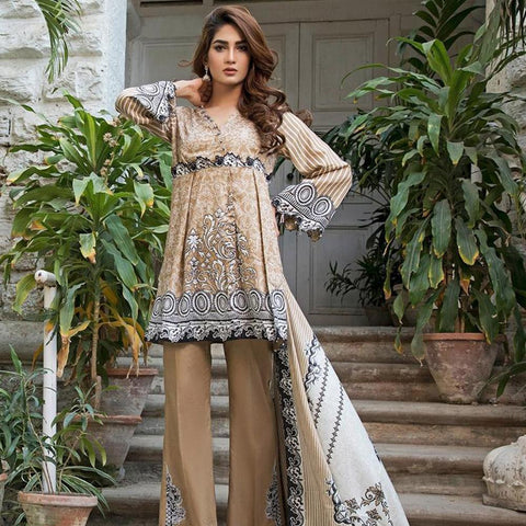 Ittehad Crystal Lawn 3 piece Un-Stitched Suit - 5625 B - test-store-for-chase-value