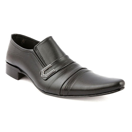 Men's Formal Shoes F02 - Black - Black - test-store-for-chase-value