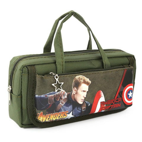 America Captain Pencil Pouch - Green - test-store-for-chase-value