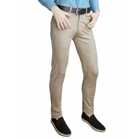 Men's Casual Cotton Pant - Beige - test-store-for-chase-value