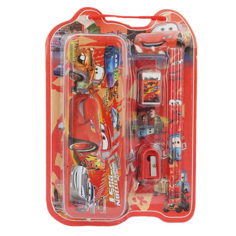Cars 2 Stationery Set 5 Pcs - Red - test-store-for-chase-value