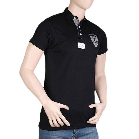 Men's Fancy Polo T-Shirt - Black - test-store-for-chase-value