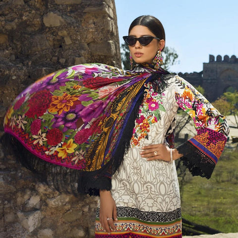 Maheen Karim Luxury Embroidered Summer Lawn Un-Stitched Suit - Berrylicious - test-store-for-chase-value