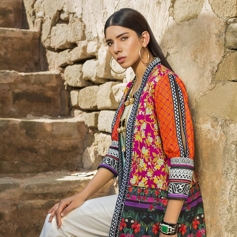 Maheen Karim Luxury Embroidered Summer Lawn Un-Stitched Suit - BURST - test-store-for-chase-value