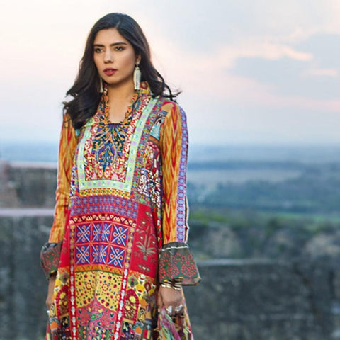 Maheen Karim Luxury Embroidered Summer Lawn Un-Stitched Suit - Heirloom - test-store-for-chase-value