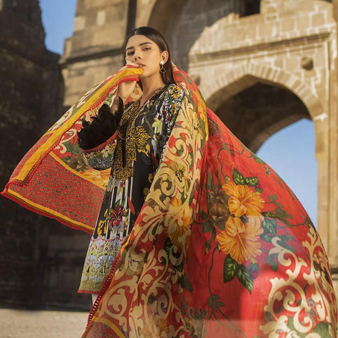 Maheen Karim Luxury Embroidered Summer Lawn Un-Stitched Suit - Rosemallows - test-store-for-chase-value