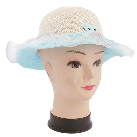 Girls Floppy Hat - Blue - test-store-for-chase-value
