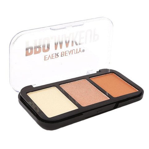 Ever Beauty Pro Makeuo Eye Shadow Kit 3 Colors - Multi - test-store-for-chase-value