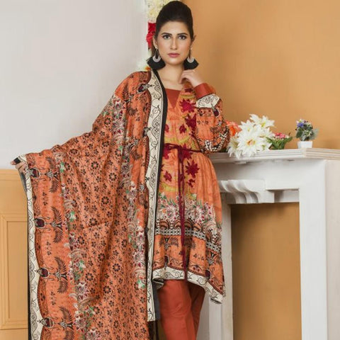 Libas Embroidered Lawn 3 Piece Un-Stitched Suit Vol 02 - 4 B - test-store-for-chase-value