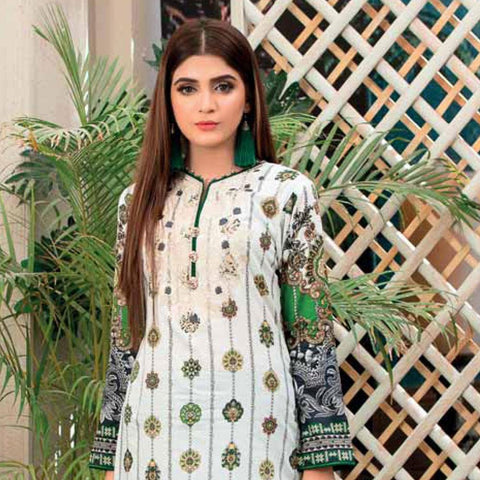 Amna Sohail Summer Galore Embroidered Lawn 3 Piece Un-Stitched Suit - 4458 A - test-store-for-chase-value