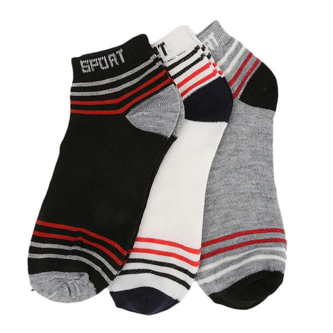 Men's Ankle Socks Pack Of 3 - Multi - test-store-for-chase-value