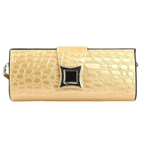Women's Crocodile Pattern Clutch - Yellow - test-store-for-chase-value