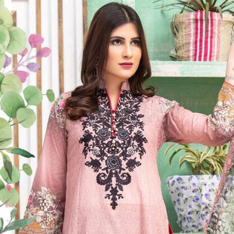 Digital Print Glorious Embroidered Lawn 3 Piece Un-Stitched Suit - 04 - test-store-for-chase-value