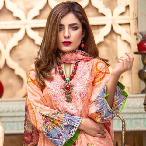 Digital Print Glorious Embroidered Lawn 3 Piece Un-Stitched Suit - 11 - test-store-for-chase-value