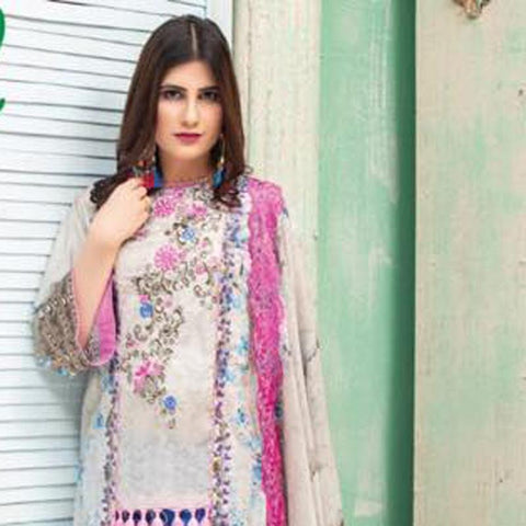 Digital Print Glorious Embroidered Lawn 3 Piece Un-Stitched Suit - 12 - test-store-for-chase-value