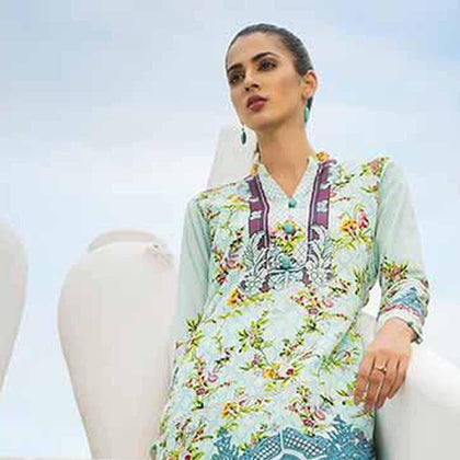Colors Printed Lawn 3 Piece Un-Stitched Suit - 2 A - test-store-for-chase-value