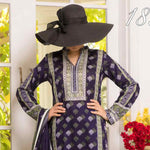 Daman Printed Cambric 3 Piece Un-Stitched Suit Vol 2 - 18B