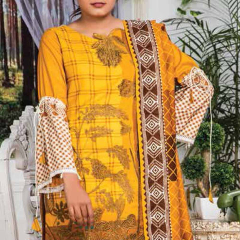 Ayesha Alishba Embroidered Linen 3 Piece Un-Stitched Suit - 024
