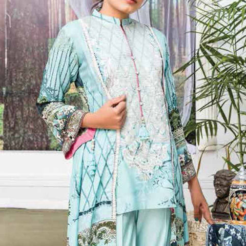 Ayesha Alishba Embroidered Linen 3 Piece Un-Stitched Suit - 029