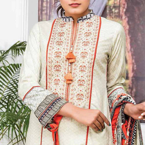 Ayesha Alishba Embroidered Linen 3 Piece Un-Stitched Suit - 033