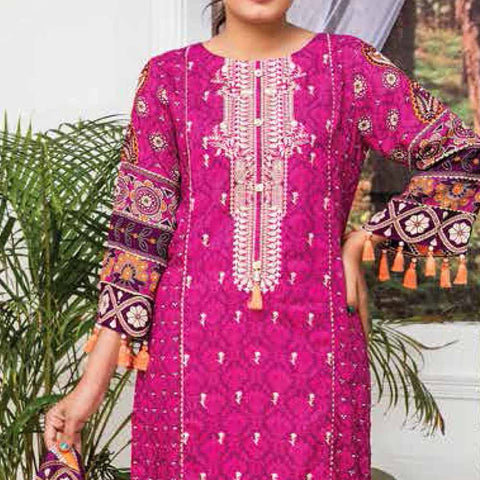 Ayesha Alishba Embroidered Linen 3 Piece Un-Stitched Suit - 034