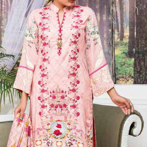 Ayesha Alishba Embroidered Linen 3 Piece Un-Stitched Suit - 035 A