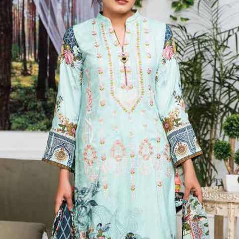 Ayesha Alishba Embroidered Linen 3 Piece Un-Stitched Suit - 037