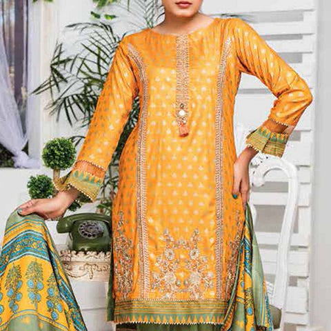 Ayesha Alishba Embroidered Linen 3 Piece Un-Stitched Suit - 038