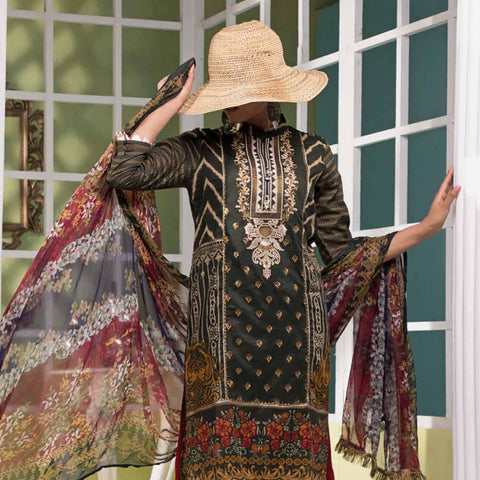 Ayesha Alishba Embroidered Lawn 3 Piece Un-Stitched Suit - 706
