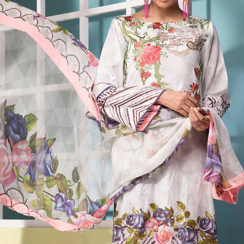 Ayesha Alishba Embroidered Lawn 3 Piece Un-Stitched Suit - 810 A