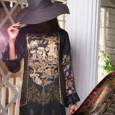 Ayesha Alishba Embroidered Lawn 3 Piece Un-Stitched Suit - 828