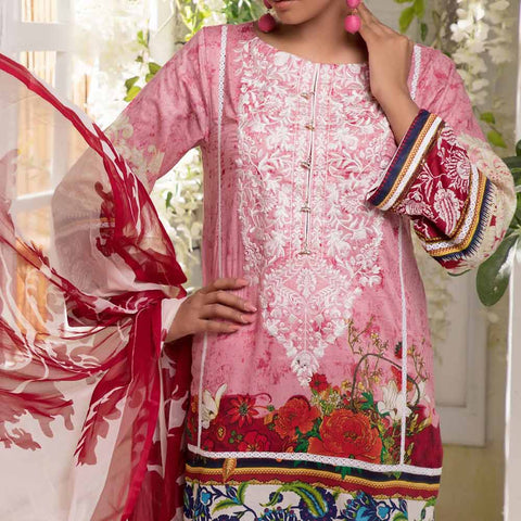 Ayesha Alishba Embroidered Lawn 3 Piece Un-Stitched Suit - 863 B