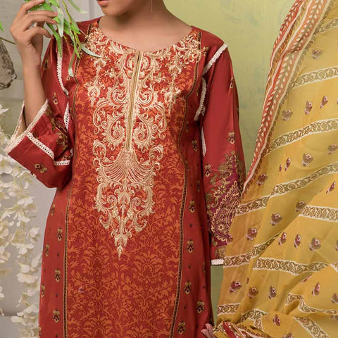 Ayesha Alishba Embroidered Lawn 3 Piece Un-Stitched Suit - 885