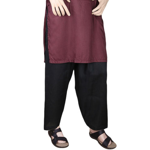 Men's 100% Cotton Shalwar - Black - test-store-for-chase-value