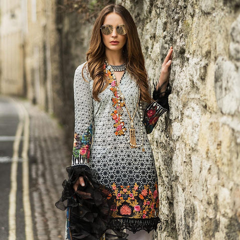 Mina Hasan Luxury Festive Embroidered Lawn Un-Stitched Suit - 1 A - test-store-for-chase-value