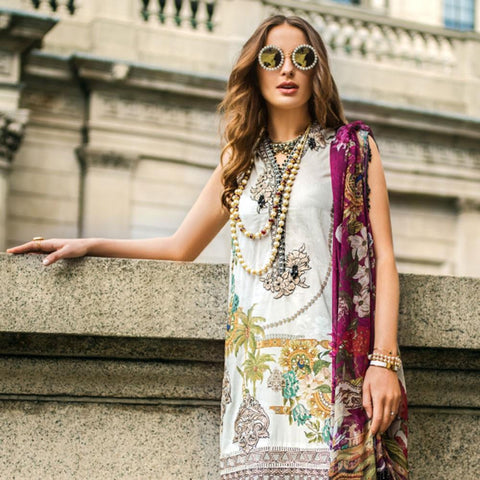 Mina Hasan Luxury Festive Embroidered Lawn Un-Stitched Suit - 2 A - test-store-for-chase-value