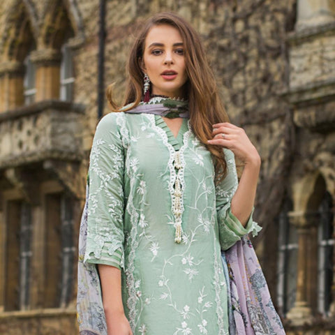 Mina Hasan Luxury Festive Embroidered Lawn Un-Stitched Suit - 3 B - test-store-for-chase-value