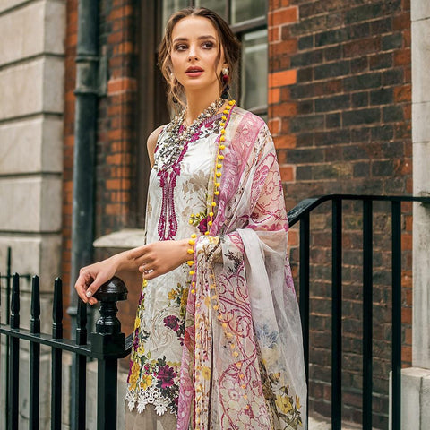Mina Hasan Luxury Festive Embroidered Lawn Un-Stitched Suit - 7 A - test-store-for-chase-value