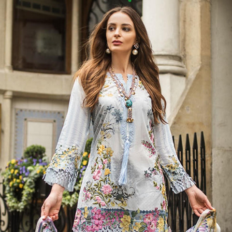 Mina Hasan Luxury Festive Embroidered Lawn Un-Stitched Suit - 7 B - test-store-for-chase-value