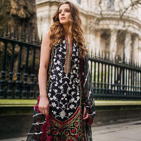 Mina Hasan Luxury Festive Embroidered Lawn Un-Stitched Suit - 4 B - test-store-for-chase-value