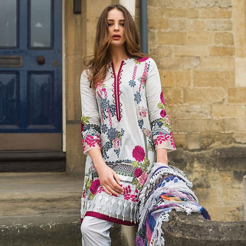 Mina Hasan Luxury Festive Embroidered Lawn Un-Stitched Suit - 6 B - test-store-for-chase-value