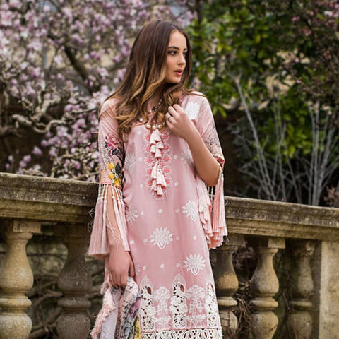 Mina Hasan Luxury Festive Embroidered Lawn Un-Stitched Suit - 8 A - test-store-for-chase-value