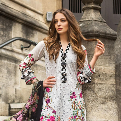 Mina Hasan Luxury Festive Embroidered Lawn Un-Stitched Suit - 10 B - test-store-for-chase-value
