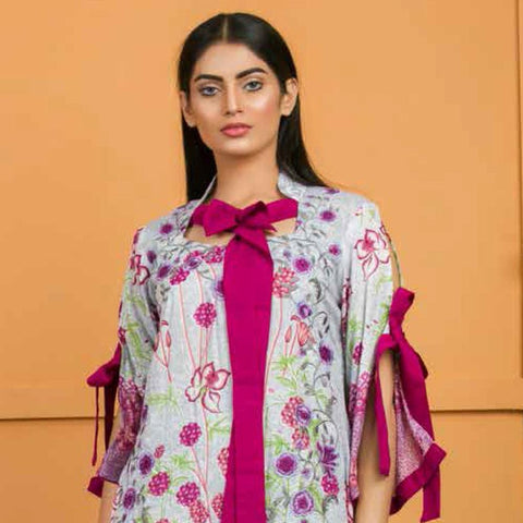 Libas Embroidered Lawn 3 Piece Un-Stitched Suit Vol 3 - 2 B - test-store-for-chase-value