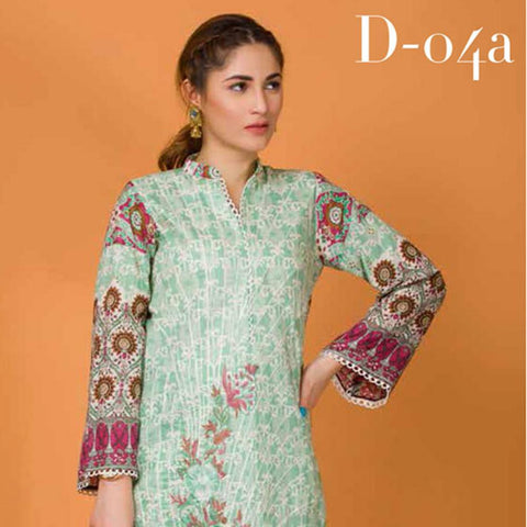 Libas Embroidered Lawn 3 Piece Un-Stitched Suit Vol 3 - 4 A - test-store-for-chase-value
