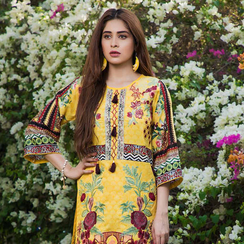 Subata Embroidered Festive Lawn 3 Piece Un-Stitched Suit - 4 A - test-store-for-chase-value