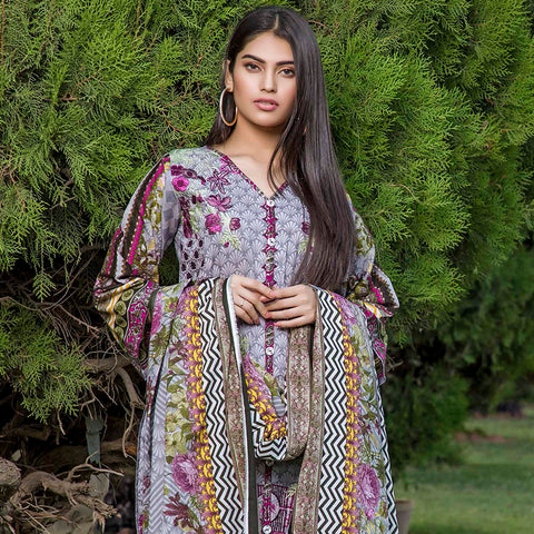 Subata Embroidered Festive Lawn 3 Piece Un-Stitched Suit - 4 B - test-store-for-chase-value