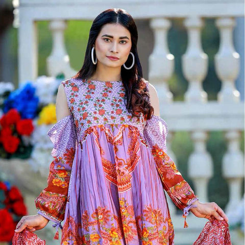 Noor Jahan Embridered Lawn 3 Piece Un-Stitched Suit Vol CK 119 - 4 - test-store-for-chase-value