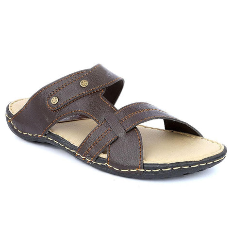 Men's Slippers (R-36) - Brown - test-store-for-chase-value