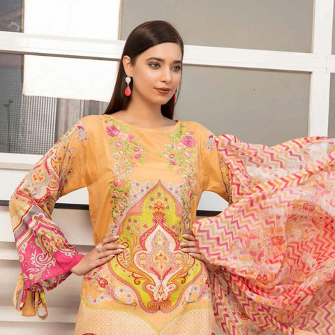Noor Jahan Embroidered Lawn 3 Piece Un-Stitched Suit Vol RQ-219 - D 05 - test-store-for-chase-value